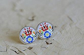 Šperky - NA SKLE MAĽOVANÉ manžetové gombíky - 9884935_