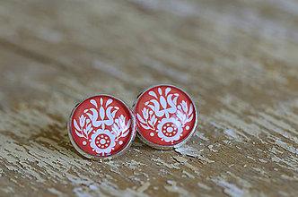 Šperky - NA SKLE MAĽOVANÉ manžetové gombíky (Biela) - 9884941_