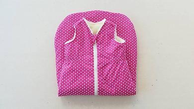Textil - Spací vak pre deti a bábätká ZIMNÝ 100% MERINO na mieru Bodka ružová - 9884372_