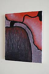 Obrazy - akt /abstraktná maľba na plátne - akryl a akvarel/ - 9884307_