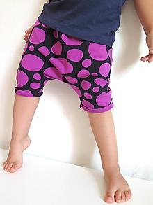 Detské oblečenie - kraťasy z biobavlny Balvany - 9885466_
