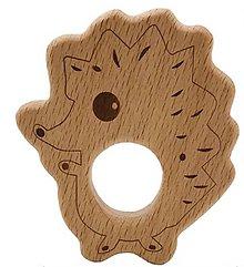 Polotovary - DZ104 Drevený ježko 6,6 x 7,9 cm - 9884007_