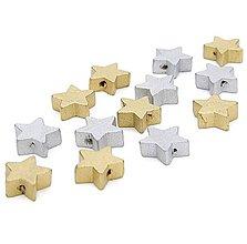 Korálky - KD150 Korálka drevená HVIEZDIČKA 1,5 cm - 9884738_