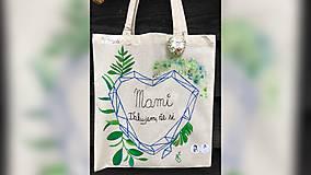 Iné tašky - ♥ Plátená, ručne maľovaná taška ♥ - 9883939_