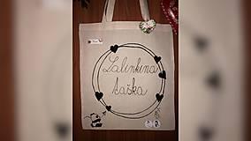 Iné tašky - ♥ Plátená, ručne maľovaná taška ♥ - 9884355_