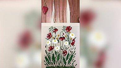 Iné tašky - ♥ Plátená, ručne maľovaná taška ♥  (S4) - 9884009_
