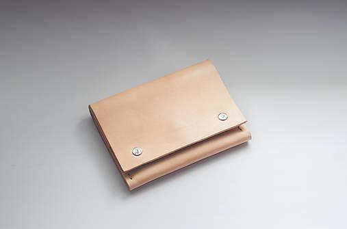 Peňaženky - Kožená peňaženka malá - aj na mince  - 9884600_