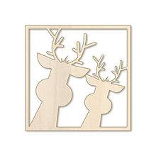 Dekorácie - Sobíky - vianočný drevený výrez - 9884946_