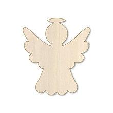 Dekorácie - Anielik - vianočný drevený výrez - 9885013_