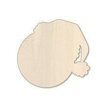 Dekorácie - Tvárička - vianočný drevený výrez - 9885219_