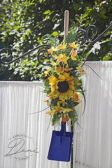 Dekorácie - Záhradná kvetinová lopatka - 9884091_