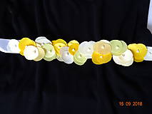 Opasky - Opasok žlté kvety - 9884863_