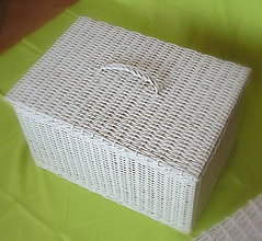 Košíky - Veľký kôš so super vrchnákom  (50 x 30 výška 30 cm) - 9884234_