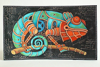Peňaženky - Steampunk Iron Chameleon-kožená dokladovka - 9884788_