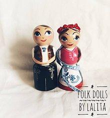 Dekorácie - Folk dolls č.4 - bábky v ľudovom kroji - 9885710_