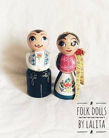 Dekorácie - Folk Dolls č. 5 - drevené bábky v ľudovom kroji - 9885711_
