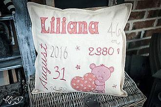 """Úžitkový textil - Vankúšik """"Liliana"""" - 9887676_"""