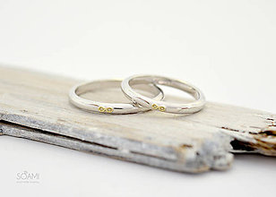 Prstene - 14k zlaté snubné obrúčky Infinity - 9888162_
