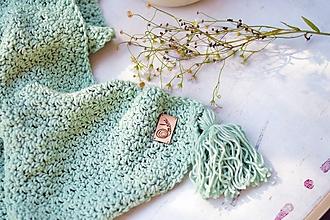 Textil - Detská deka BAVLNA: mentolová - 9887806_