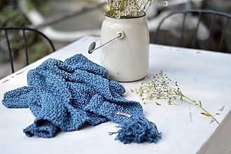 Textil - Detská deka BAVLNA: modrá - 9887813_