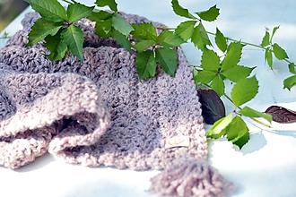 Textil - Detská deka extra teplá ALPAKA: ružový melír - 9887855_