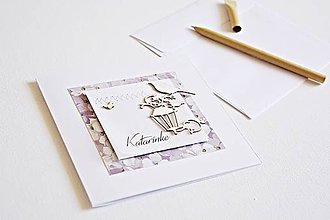 Papiernictvo - Pozdrav štýlový - personalizovaný s menom - 9887336_