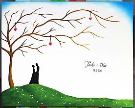 Obrazy - Wedding tree X - svadobný strom - 9887864_