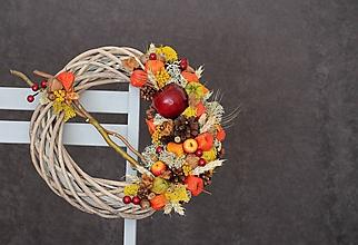 Dekorácie - Jesenný veniec - 9885971_