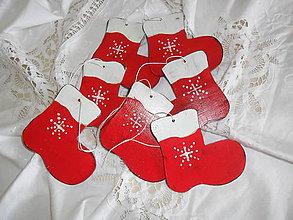 Dekorácie - Vianočné ozdoby- čižmičky. - 9886187_