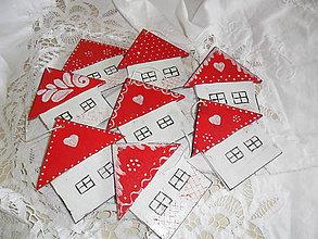 Dekorácie - Vianočné ozdoby- domčeky. - 9886211_