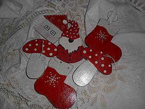 Dekorácie - Vianočné ozdoby- sada 6 kusov. - 9886219_