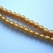 Korálky - Gold Powder Metallic 4mm-30ks - 9887199_