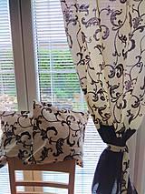 Úžitkový textil - Závesy hnedý orient - 9887455_