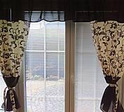 Úžitkový textil - Závesy hnedý orient - 9887456_