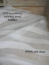 """Textil - """"záclonkový"""" 100% len stripes...š.260cm - 9886137_"""