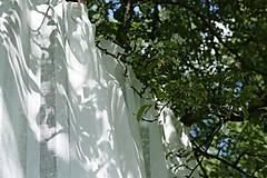 """Textil - """"záclonkový"""" 100% len stripes...š.260cm - 9886142_"""