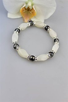 Náramky - luxusný náramok krištál aura a jadeit - 9885939_