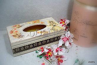 Krabičky - drevený stojan na vreckovky Nostalgia - 9886430_