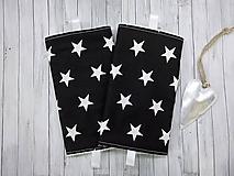 Detské doplnky - Ochranné návleky na popruhy na ergonosič čierne s hviezdami - 9887947_