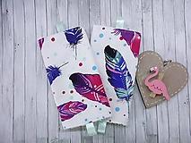 Detské doplnky - Ochranné návleky na popruhy na ergonosič pierka - 9887956_