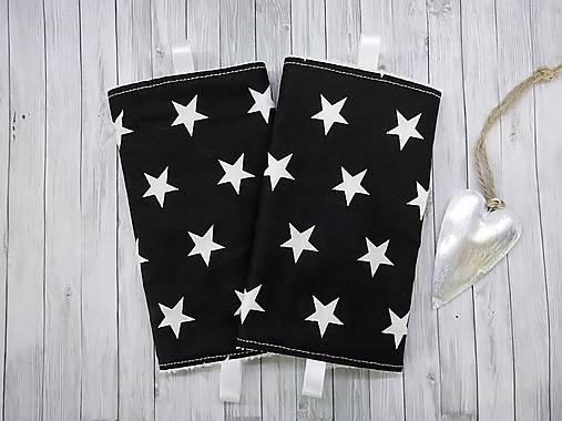 Ochranné návleky na popruhy na ergonosič čierne s hviezdami