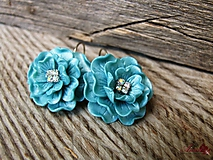 Náušnice - Perleťové kvety - 9888209_