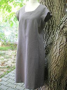 Šaty - Ľanové šaty nevšedné :) - 9887257_