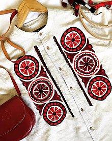 Košele - Vyšívaná košeľa - 9887648_