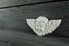 Dekorácie - Reliéfní anděl bílý - 9886659_