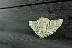 Dekorácie - Reliéfní anděl ecru - 9886665_