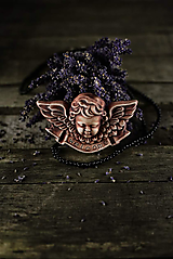 Dekorácie - Reliéfní anděl patina železo welcome - 9886751_