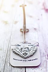 Dekorácie - Reliéfní anděl patina železo welcome - 9886754_