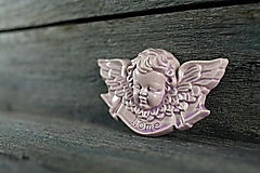 Dekorácie - Reliéfní anděl lila home - 9886869_