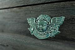 Dekorácie - Reliéfní anděl modrý home - 9886883_